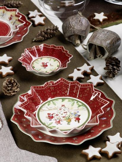 Villeroy and Boch, dekoracje świąteczne, salon porcelany 2