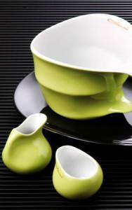 COLANI COLOURS grün Jumbo -Milchgiesser- Zucker, salon porcelany