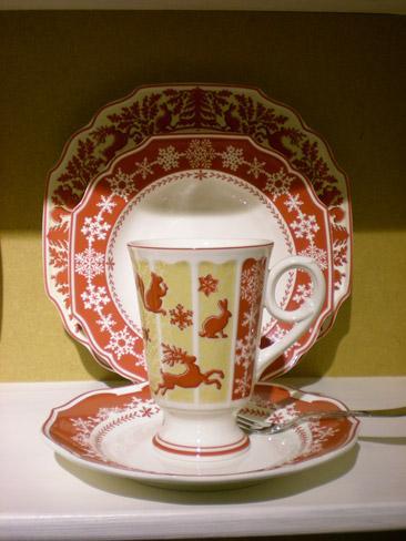Villeroy and Boch, dekoracje świąteczne, salon porcelany 29