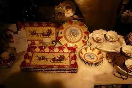 Villeroy and Boch, dekoracje świąteczne, salon porcelany 73