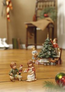 Dekoracje świąteczne, salon porcelany 11