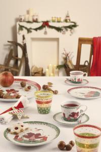 Dekoracje świąteczne, salon porcelany 13