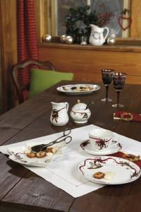 Dekoracje świąteczne, salon porcelany 14
