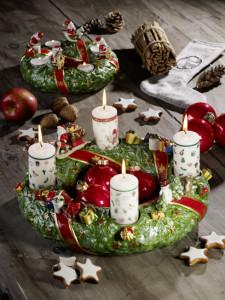 Dekoracje świąteczne, salon porcelany 23