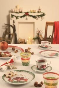 Dekoracje świąteczne, salon porcelany 33